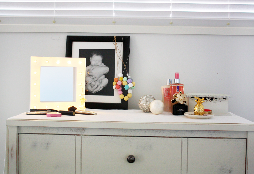 Glass Half Full: Marquee Makeup Mirror Frame