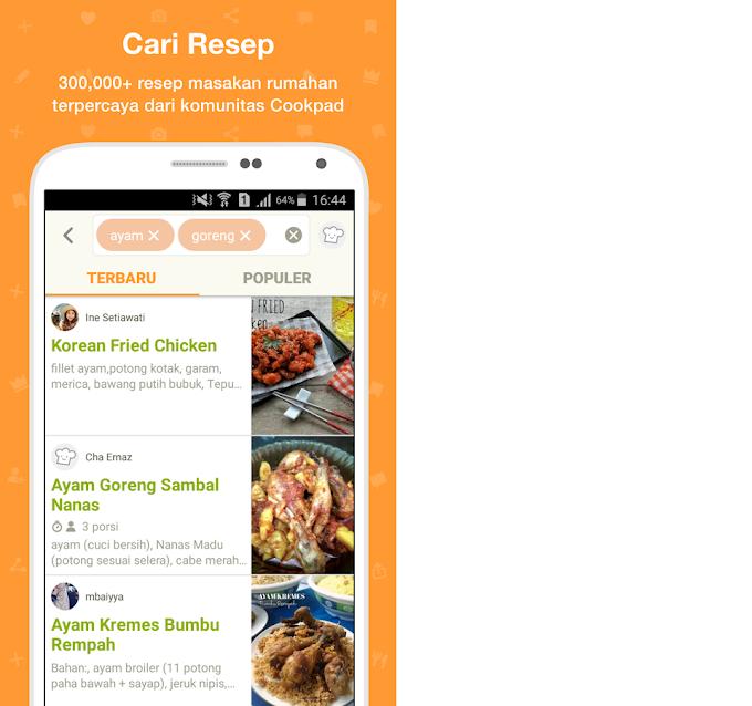 Mau Resep Masak Ala Indonesia Pake Aplikasi cookpad