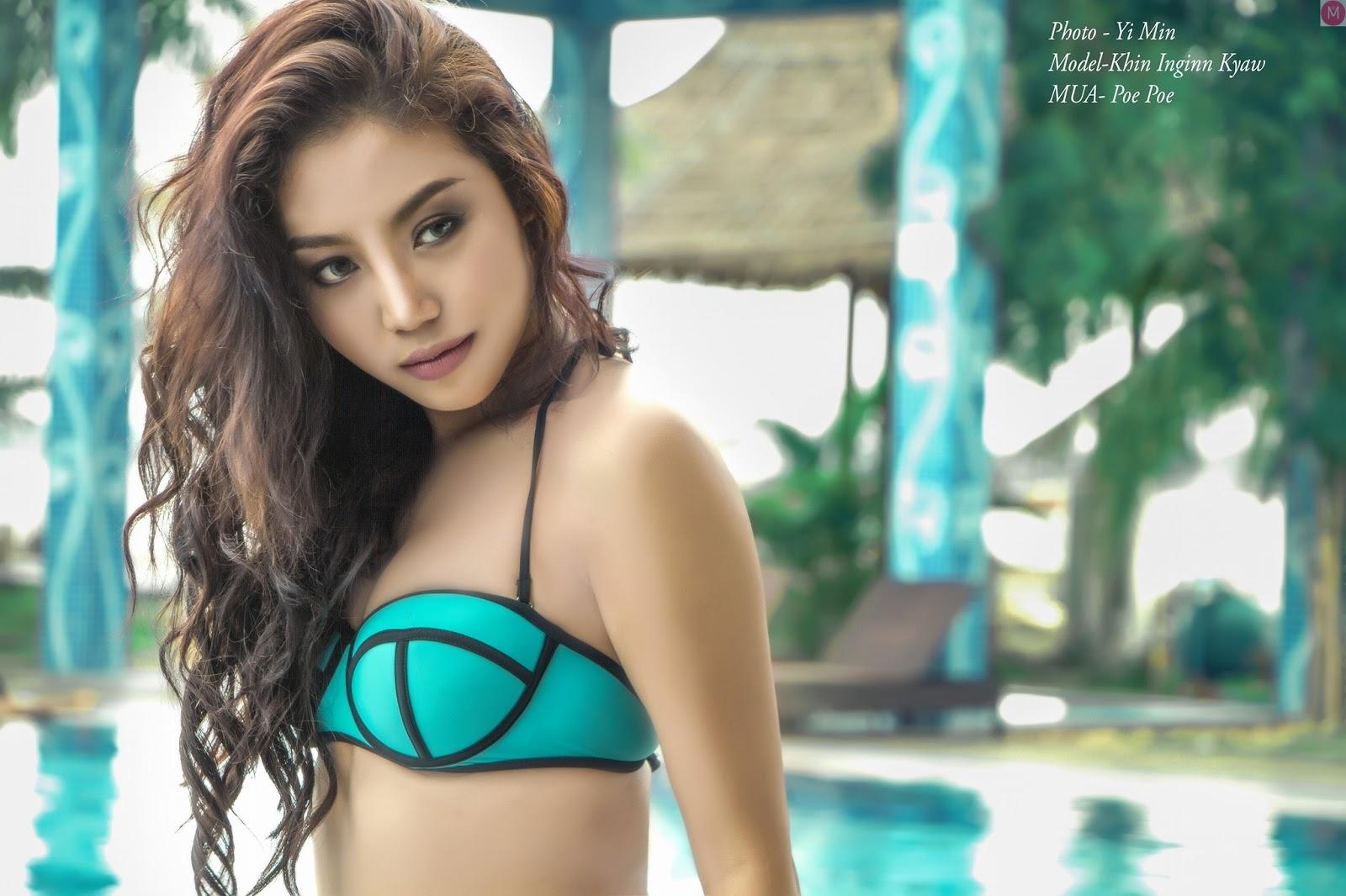 Myanmar Model Khin Injinn Kyaw Selection Album July Collection
