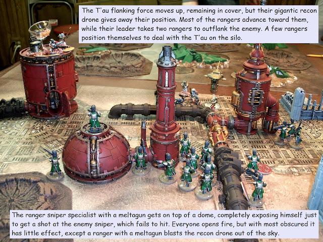 Warhammer 40k Kill Team Astra Militarum Tau battle report