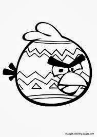 Angry Birds Easter Coloring Pages 6