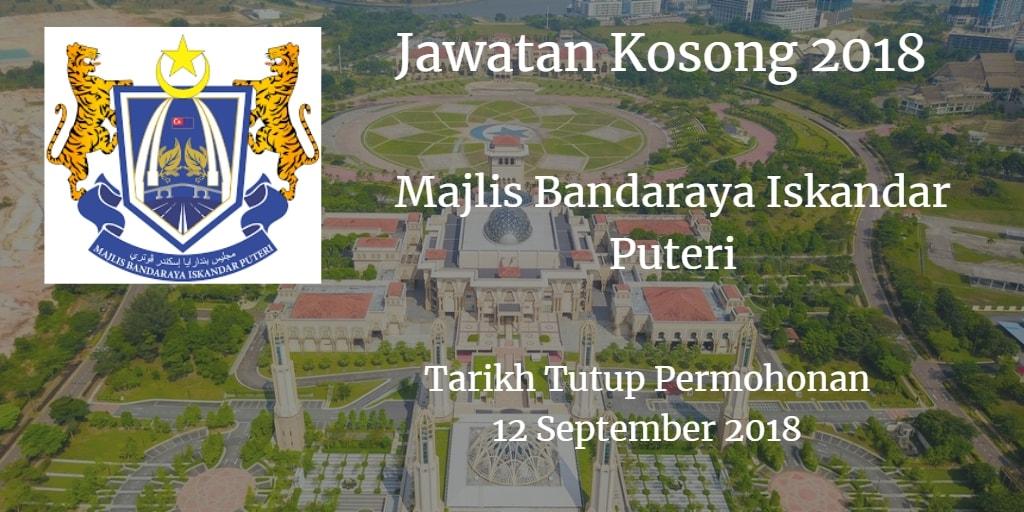 Jawatan Kosong Majlis Bandaraya Iskandar Puteri 12 September 2018