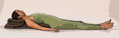 Restorative Savasana (Blankets Supporting Torso)