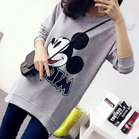 Jual Jacket / Sweater Sweater Mickey Grey - 12919