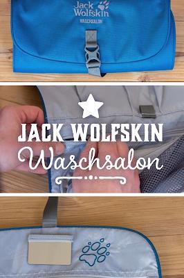 Jack Wolfskin Waschsalon | Outdoor Kulturbeutel und praktisches Kleinteilelager | Waschtasche für Trekkingtouren | Kosmetiktasche fürs Camping