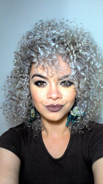 silver and curly trendy powerful