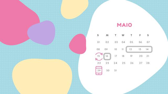 Calendário (tabelinha) onde se marca o dia prevista para ovulação e os dias férteis, fazendo o cálculo do périodo fértil