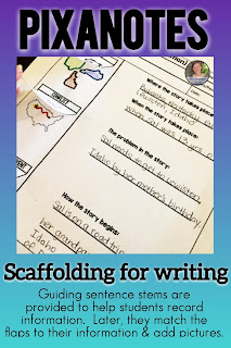 Some middle school students need writing supports like sentence stems.  These novel study notes come differentiated so those who need sentence stems get them and those that don't can use a different version.  #teaching #languagearts #differentiatedinstruction #novelstudy