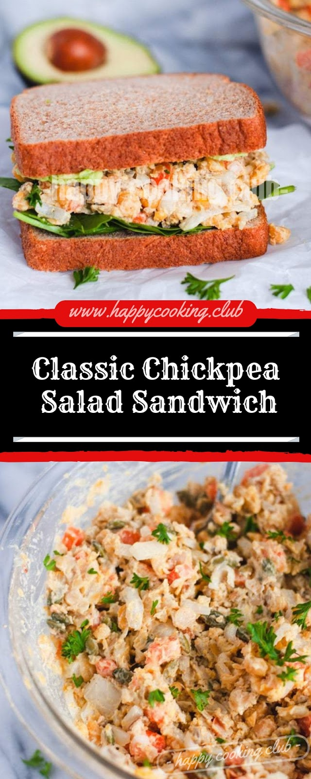 Classic Chickpea Salad Sandwich