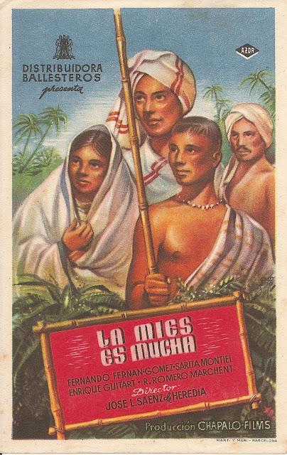 La Mies es Mucha - Folleto de mano - Cine español - Fernado Fernán Gómez - Sara Montiel