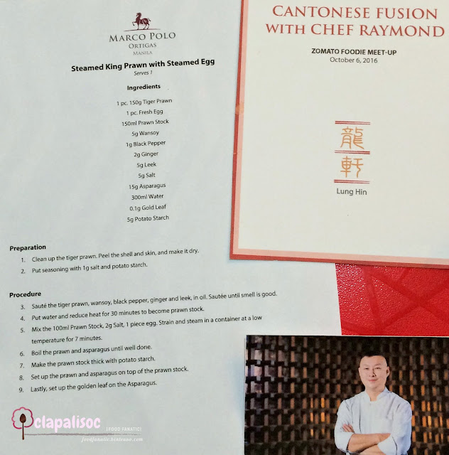 Chef Raymond Yeung of Lung Hin Marco Polo Ortigas