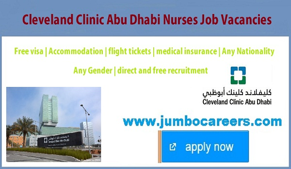 Direct free recruitment jobs in Abu Dhbai, Nurses jobs in Abu Dhabi for Indians,