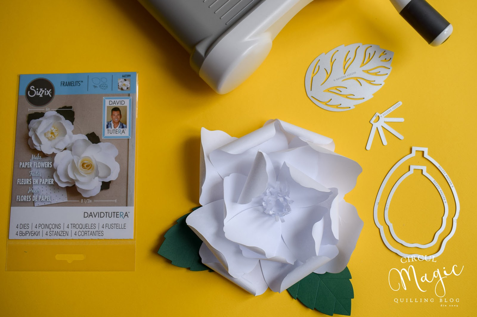 Tutorial foto: Cum faci o floare de hartie cu ajutorul unei prese Sizzix