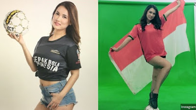 Pakai Jersey Timnas Indonesia Miyabi Bikin Geger