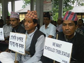Gorkhas people of BTAD sitting in dharna for ST status