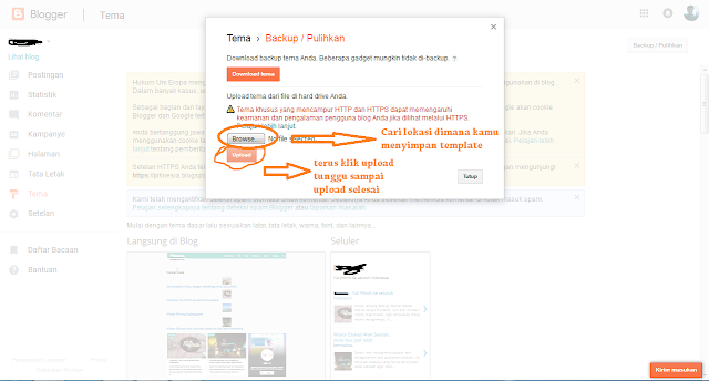 Cara Mengubah Template Blog dan Tips Memilih Template Blog