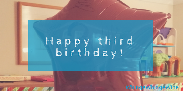 Happy third birthday! With Toddler Tools