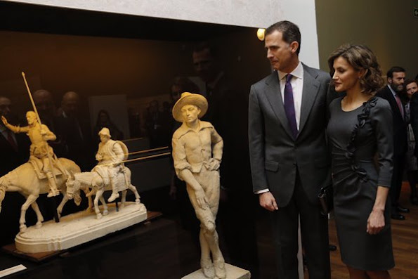 King Felipe and Queen Letizia attended the opening of the exhibition 'Miguel de Cervantes the Myth of Life at National Library