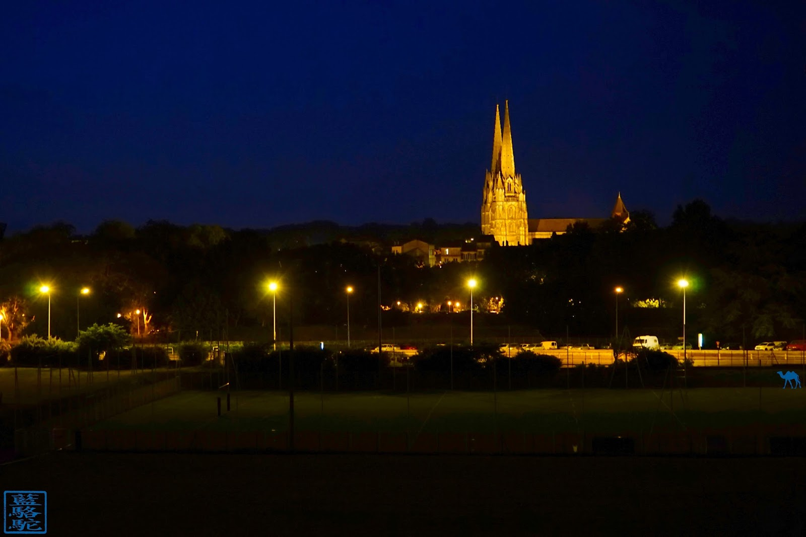 Le Chameau Bleu - Blog Voyage Bayonne France - Cathedrale Sainte Marie By NIght