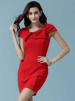 mini dress warna merah terbaru 2016