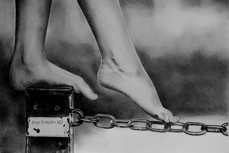 20 Mind-Blowing Pencil Drawings By Greek Artist That Illustrate The Beauty Of Love - Dreaming while awake
