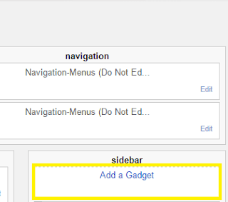 add a gadget in blogger image