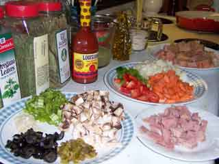 Jambalaya ingredients