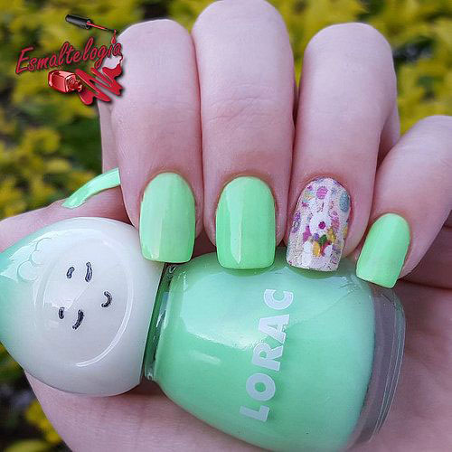 18 Easter Bunny Nails Art Designs & Ideas 2019