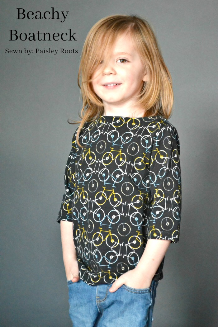 Beachy Boatneck sewing pattern by Blank Slate Patterns sewn by Paisley Roots