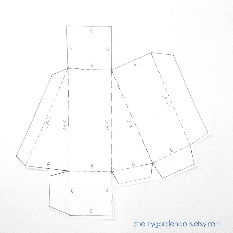 Etsy russian team how to make a cake slice paper box to assemble simply cut around the design score and crease along each fold glue the tabs to form the shape of the box then slot the two end flaps and pronofoot35fo Gallery