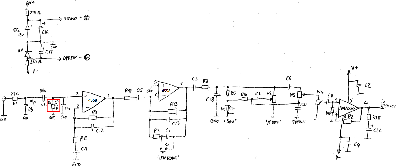 electronics engineering notes: Fixing Rocktile GB-15 bass