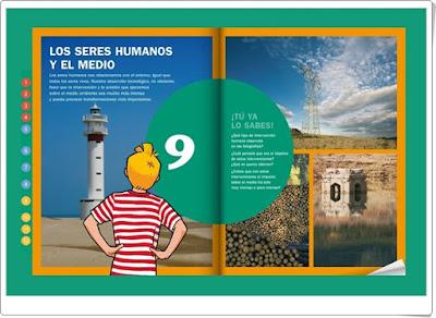 Los seres humanos y el medio Unidad de Editorial La Galera proyecto Tren Ciencias Naturales de 5º de Primaria