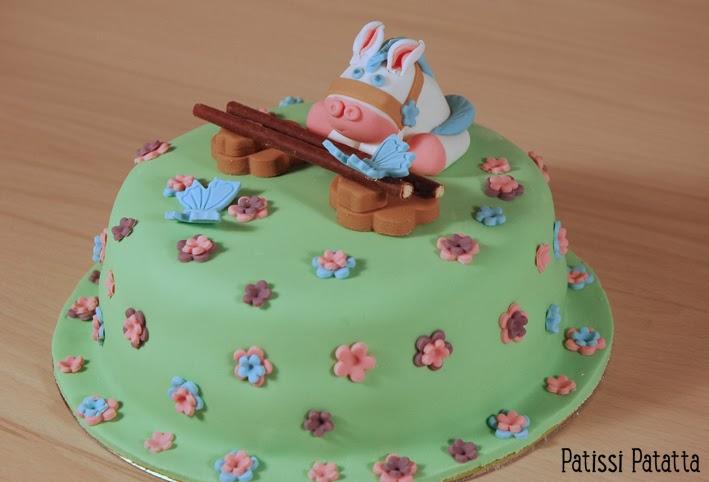 cake design, gâteau 3D, pâte à sucre, gumpaste, fondant, pony cake