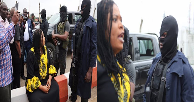 I Dare You To Fire Your Bullets – Angry Female Lawmaker Confronts Masked DSS Men At NASS (See Photos &Video)