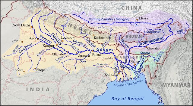Ganga-Brahmaputra River Basin Map