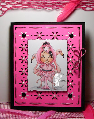 Lil Flamingo Boo Card by Joanne B on Colours and Cards