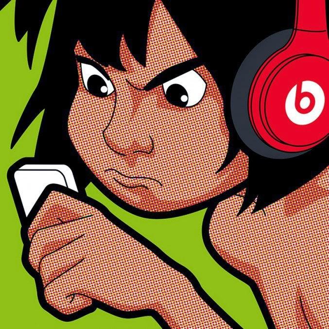 mowgli escuchando algo de música