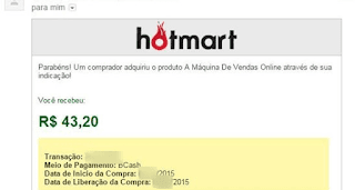 Minha Primeira Venda no Hotmart Graças aos Ensinamentos da Máquina de Vendas Online