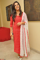 Anasuya Bharadwaj in Red at Kalamandir Foundation 7th anniversary Celebrations ~  Actress Galleries 002.JPG