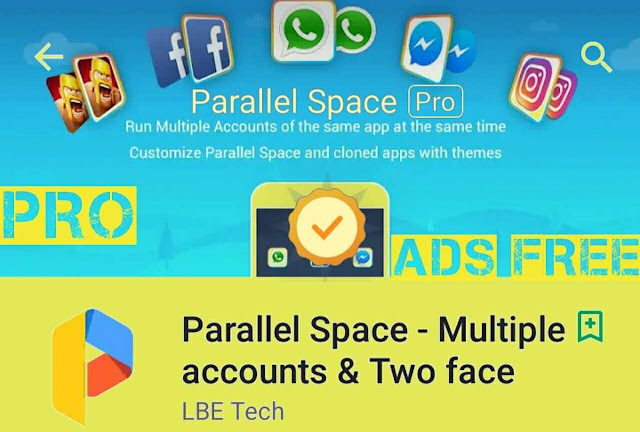 Parallel Space mod Multi Accounts Apk Mod for Android