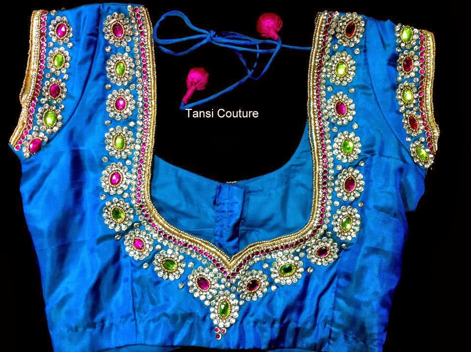 Indian Dresses Embroided Maggam Work Blouse Designs