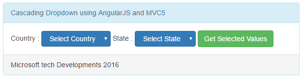 cascading dropdown using angular js in mvc5