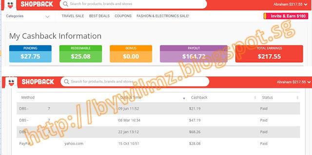 ShopBack Singapore - Payment Proof