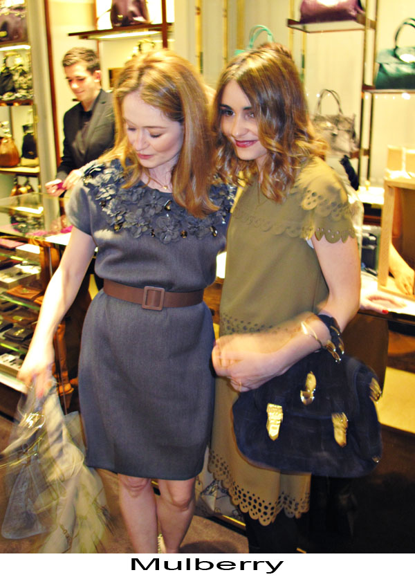 Miranda Otto and Pia Miranda at Mulberry, Sydney Vogue Fashion's Night Out 2011