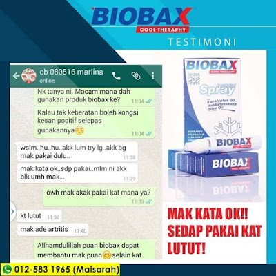 testimoni Biobax Cool Theraphy
