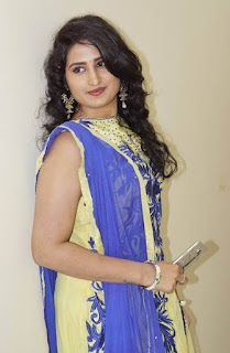 Telugu Serial Actress Ankitha Stills In Yellow Dress (3)