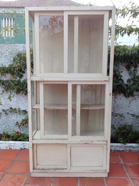 antiga, vitrine, vintage, retrosaria