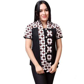 Baju Batik Lengan Pendek Modern 2016