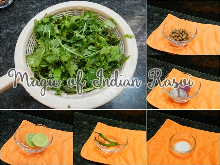 Green Chutney using Sev - Kothmir ki Chutney Recipe