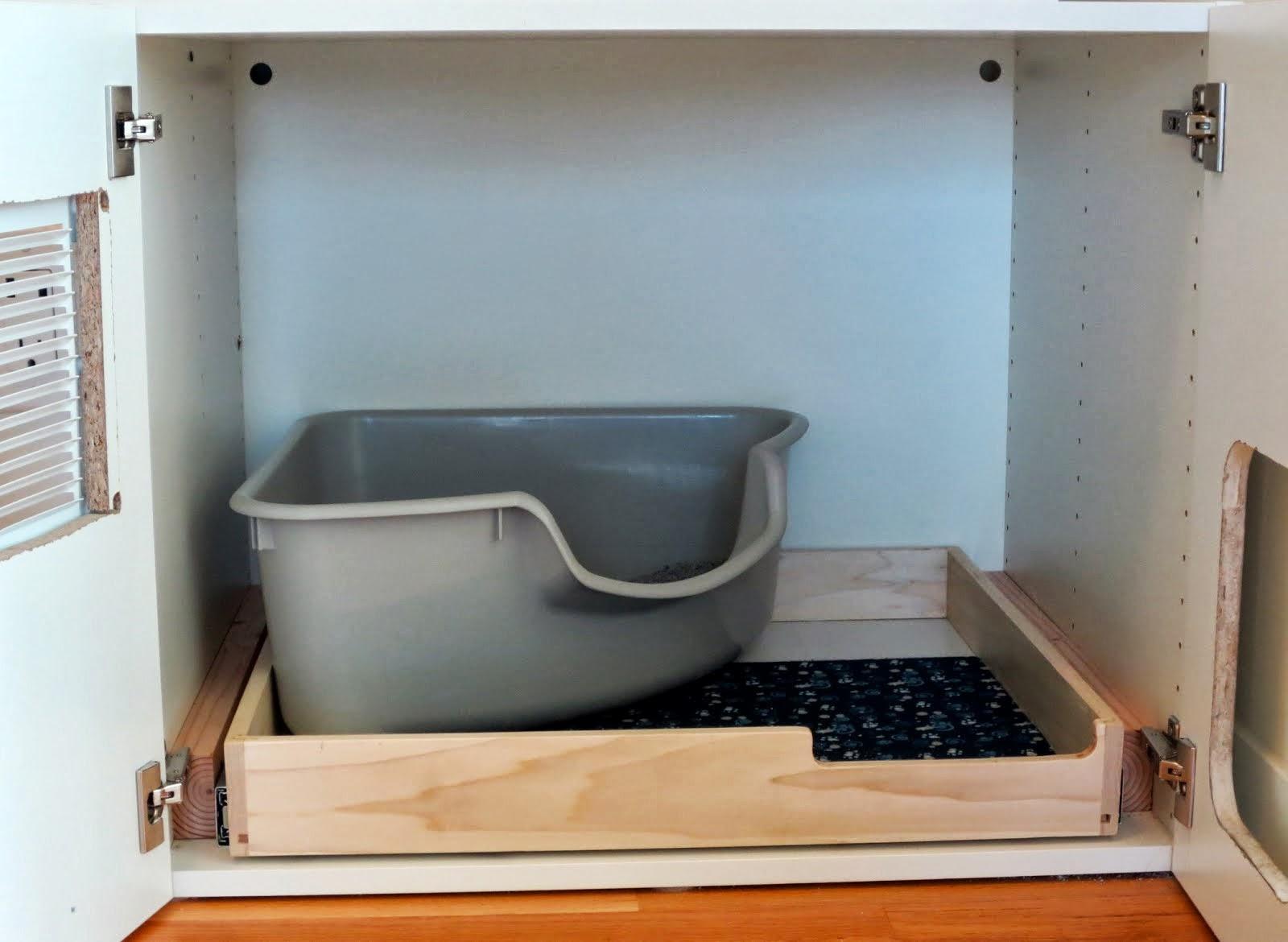 Akurum Cat Litter Box Expedit Office Storage Ikea Hackers